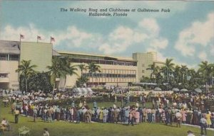 Florida Hallandale The Walking Ring And Clubhouse At Gulfstream Park
