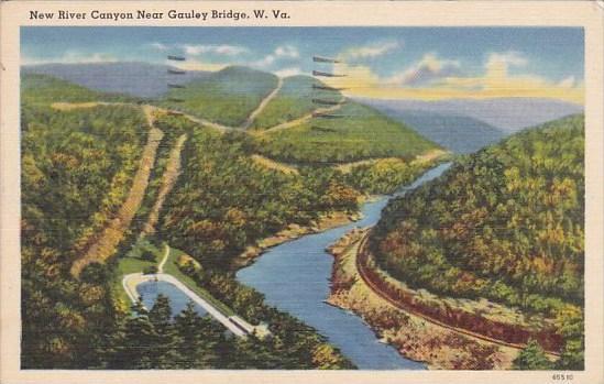 west virginia gauley bridge new river canyon 1959 hippostcard