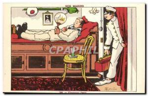 Our Sailors Flagrant Delit-boat-Postcard Old Illustrator Gervese