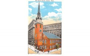 Old South Church Boston, Massachusetts Postcard