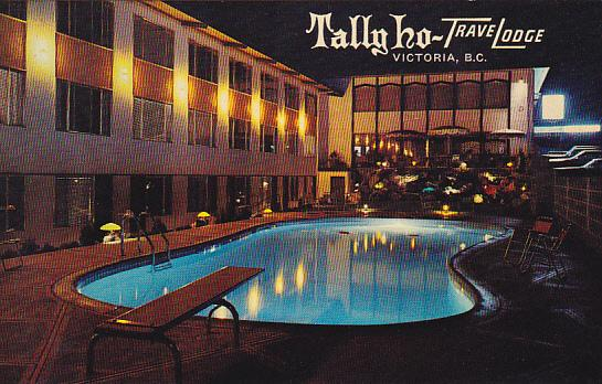 Tally Ho TraveLodge Swimming Pool Victoria British Columbia Canada