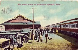 CENTRALIA WASHINGTON RAILROAD STATION train 1913