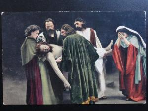 Passionsspiele Oberammergau - Grablegung - Entombment of Christ, Old Postcard