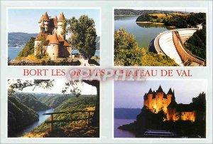 Postcard Modern Correze Bort Organ Chateau Val Dam Bort Orgies site of St Naz...
