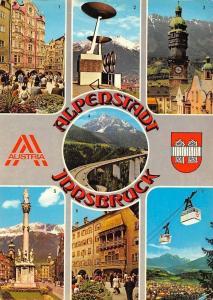 Alpenstadt Innsbruck multiviews Helblinghaus Bergisel Stadion Stadtturm Bruecke