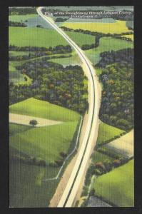Air View Lebanon County Pennsylvania Turnpike Unused c1940s