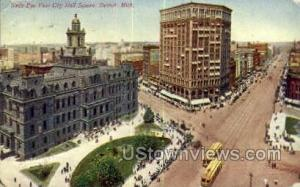 City Hall Detroit MI 1910