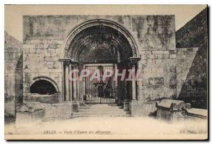 Postcard Ancient Arles Gate Entrance of Aliscamps