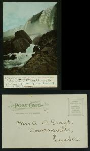 Cave of the Winds or rock of ages Niagara falls c1905-10