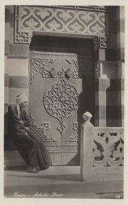Cairo Artistic Door Egypt Real Photo Old Postcard
