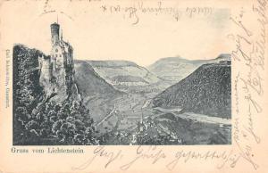 Lichtenstein Germany Castle Scenic View Gruss vom Antique Postcard J66483