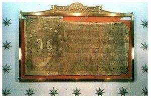 Bataille De Bennington Août 16, 1777 Stars & Rayures Drapeau Carte Postale