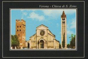 Verona-Chiesa de S. Zeno vintage postcard