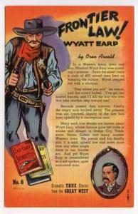 Great West True Stories Frontier Law Curt Teich Postcard