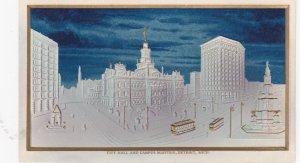 DETROIT, Michigan, 1900-1910s; City Hall And Campus Martius, Embossed