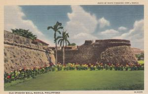 MANILA, Philippines; Old Spanish Wall, 30-40s
