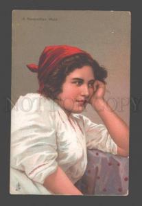090811 ITALY Costume NEAPOLITAN Maid girl Vintage TUCK PC