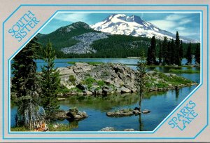 Oregon South Sister Seen From Sparks Lake