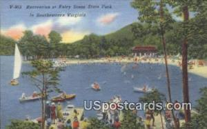 Fairy Stone State Park, VA Postcard       ;         Fairy Stone State Park, V...