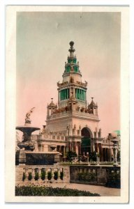 1915 RPPC Tower of Jewels, PPIE San Francisco World's Fair Hand-Colored Postcard