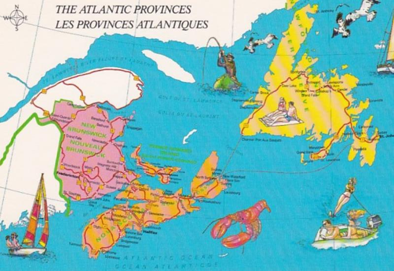 Canada Map Of The Atlantic Provinces