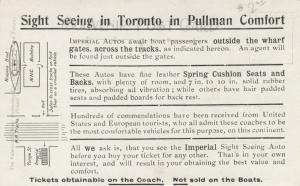 TORONTO , Ontario , Canada , 1900-10s ; In Queen's Park; PULLMAN ad on back