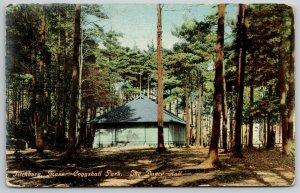 Fitchburg Massachusetts~Coggshall Park Dance Hall in Woods~c1910 Postcard