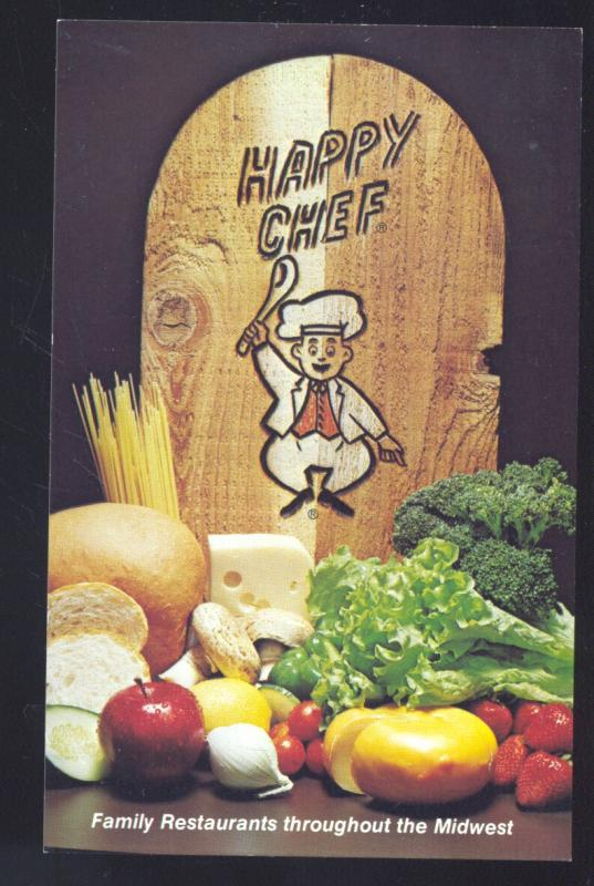 mankato minnesota happy chef restaurant food advertising old