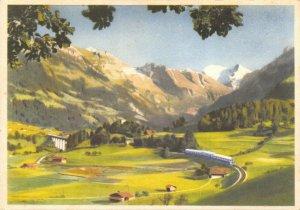 Switzerland Art Postcard The Northern Ramp Loetschberg Railway Kander Valley EX6