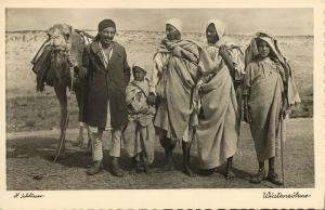 libya, Group of Native Men, Sons of the Desert (1940s) H. Schlösser Photo