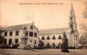 Massachusetts North Brookfield Congregational Church 1945