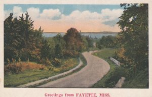 FAYETTE, Mississippi, 1900-10s; Greetings, Country Road Scene