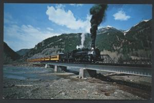 Silverton Elk Park San Juan Mountains COLORADO Passenger Train Railroad Postcard