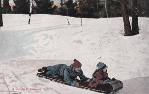 A Young Enthusiast, Father and daughter on sled, 00-10s