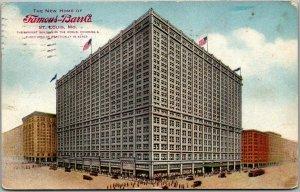 1914 St. Louis, Missouri Postcard FAMOUS-BARR COMPANY Dept. Store Street View