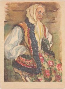 AS: Old Woman wearing head scarf, Maria Wasowicz-Sopocko, 1957
