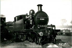 Vtg Locomotive Railroad Photograph -Sterny Green UK Steam Engine 2160