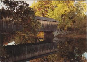 Maine Fryeburg Hemlock Covered Bridge
