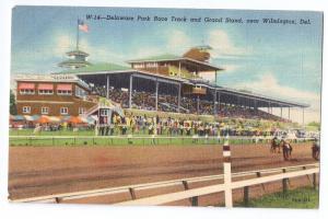 Delaware Park Race Track Wilmington DE Curteich Linen