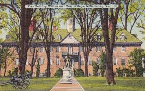 Virginia Williamsburg Wren Building William And Mary College