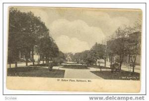 Eutaw Place, Baltimore, Maryland, Pre 1907