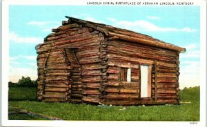 Postcard Abraham Lincoln Childhood Home House Vintage VTG Birth Place Kentucky