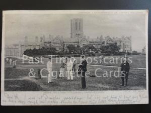 Isle of Man CASTLETOWN King William College c1902 UB shows Boys Cricket Match
