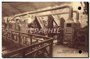 Old Postcard Advertisement Production of pellets