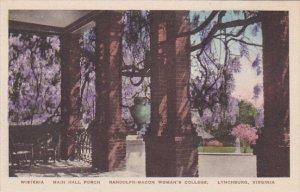 Virginia Lynchburg Wisteria Main Hall Porch Randolph Macon Womens College Alb...