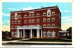 Virginia Wytheville The George Wythe Hotel Curteich
