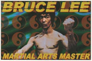 Bruce Lee Martial Arts Master Film Rare Out Of Print Postcard