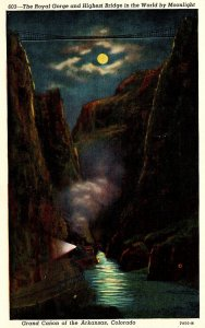 Colorado The Royal Gorge and Highest Bridge In The World By Moonlight