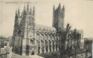 European Cathedrals architecture vintage postcard Canterbury England