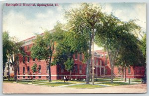 Springfield Illinois~Springfield Hospital~People on Walkway-on Lawn~1911